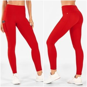 Fabletics Red Trinity High-Waisted Utility Legging